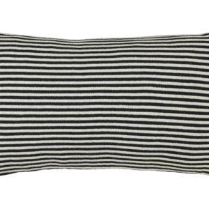 Kissen Feinstrick schwarz/weiß