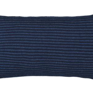 Kissen Feinstrick blau/dunkelblau