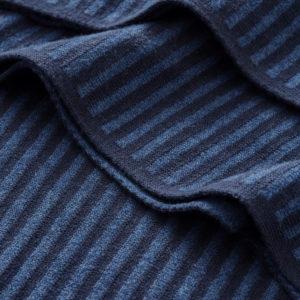 Decke Feinstrick blau/dunkelblau