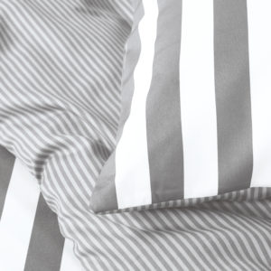 Marc O´Polo Bettwäsche Grau/Weiß gestreift