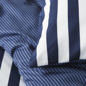 Marc O´Polo Bettwäsche Blau/Weiß gestreift