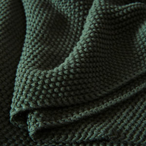 Decke Strick dunkelgrün
