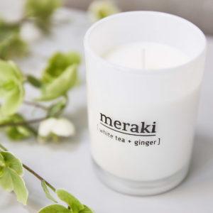 Meraki Duftkerze Weißer Tee & Ingwer
