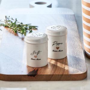Riviera Maison Salz- und Pfefferstreuer Love Salt & Pepper Set