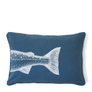 Riviera Maison Kissenbezug RM Happy Fish Outdoor Blau