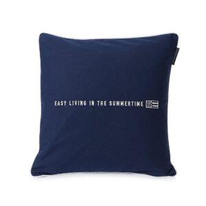 Lexington Kissenbezug Blau Mit Schrift